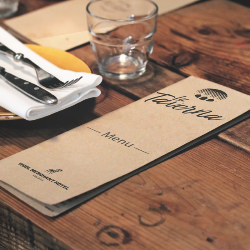 La taverna menu