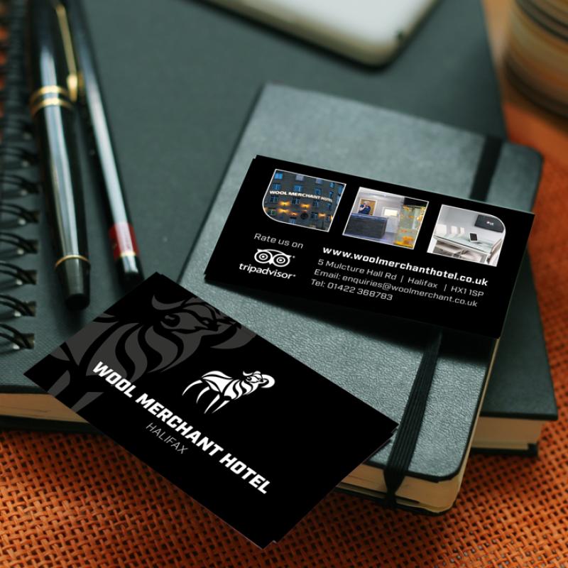 wool merchant business cards